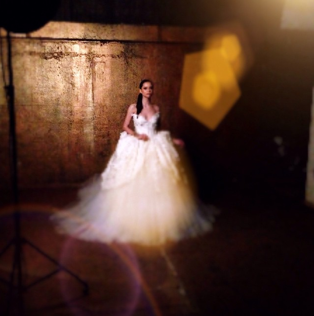 Amazing Bridal shoot for the dress by M&K